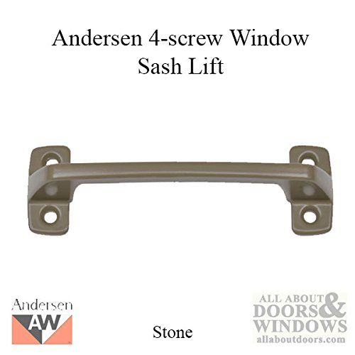 Andersen Window - Double Hung Window Sash Lift/Handle, 4 screw holes - Stone ()