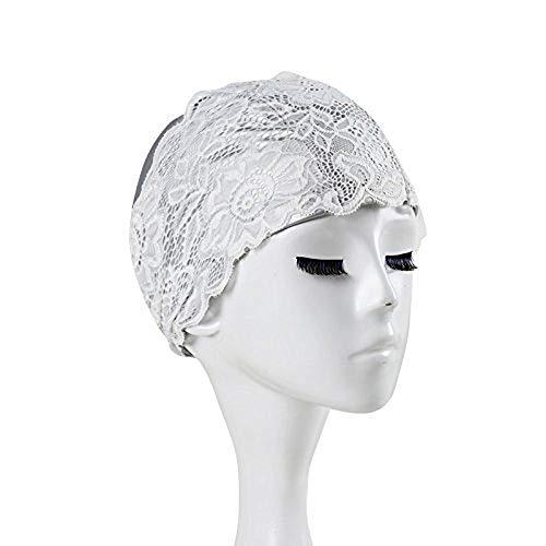 - ITODA Women Swimming Cap Waterproof Bathing Turban Keep Girls Hair Dry Silicone Anti-Slip Elastic Comfortable Elegant Swim Hat Wrap
