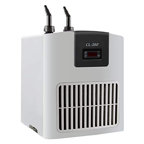 VIVOSUN 1/10HP Aquarium Chiller Ultrahigh Refrigeration Efficiency Water Chiller for Both Freshwater and Seawater
