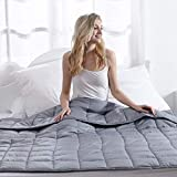"Weighted Blanket for Adult 10lbs 48""x72 Twin Size Heavy Blanket (Inner Layer Dark Grey)"