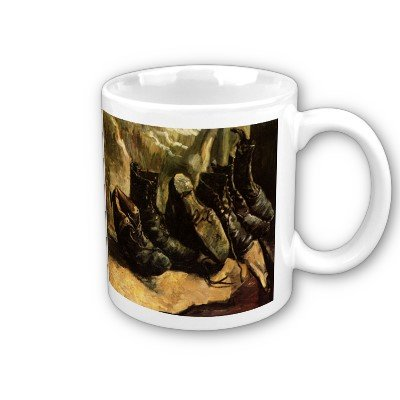 (Three Pairs of Shoes by Vincent Van Gogh Coffee Cup)