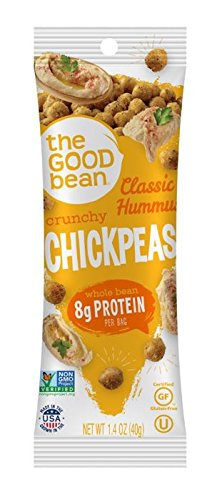 The Good Bean Chickpea Snacks Grab & Go, Classic Hummus, Gluten and Nut Free, 10 Count, 1.4 -