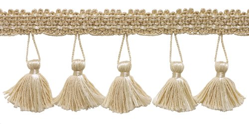 2.5 Inch Tassel Fringe Trim, Style# ETF Color: NATURAL - A2, Sold By the Yard