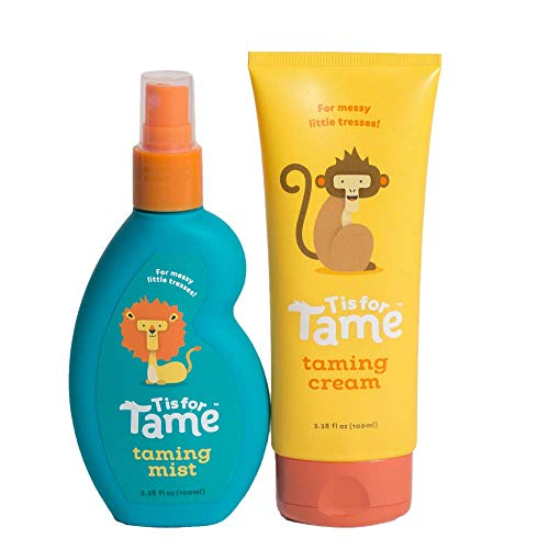 T is for Tame | Hair Taming Spray & Matte Cream for Babies, Toddlers, and Kids | Eco-Friendly Pouch | 100% Natural Ingredients | Organic Coconut Oil & Jojoba | No Chemicals