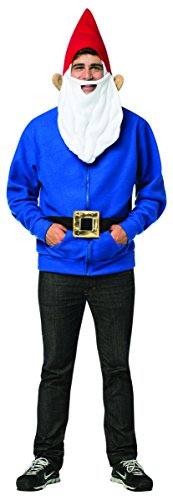 Rasta Imposta Men's Gnome Hoodie, Blue, X-Large (Gnome Halloween Costume)