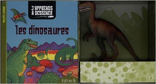 Téléchargement Mon coffret J'apprends à dessiner - Les dinosaures pdf epub