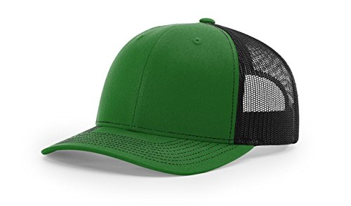 - Richardson Kelly/Black 112 Mesh Back Trucker Cap Snapback Hat