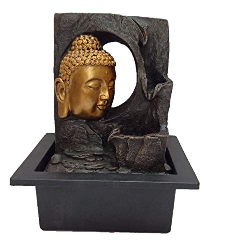 Lord Buddha Water Fountain Showpiece for Home Decor by Ethnic Karigari