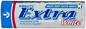 Extra White Peppermint Flavour Chewing Gum, 30 x 14g Packs