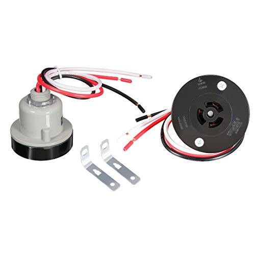 uxcell Photocell Light Sensor, IP 65 Photo Control Base Light Switch JL-200Z1412-L2 2 Pcs