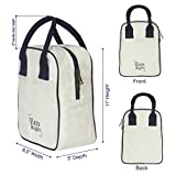EcoRight Canvas Insulated Lunch Bag for Women, Men, Kids - 5 ltrs Capacity | Reusable | Washable | Ethically Manufactured - Natural