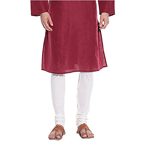 Royal Kurta Men's Cotton Blend Chudidar Large White