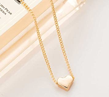 Interesting trendy tiny heart short pendant necklace women gold interesting trendy tiny heart short pendant necklace women gold plated chain lover lady girl gifts mozeypictures Images