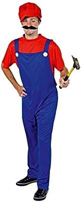 Disfraz de Super Mario Disfraz adulto fontanero profesional traje ...