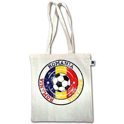 Lunghi Xt600 Romania Juta Calcio Unisize Bag Manici Natural Circle Football Vintage In 8dBwY