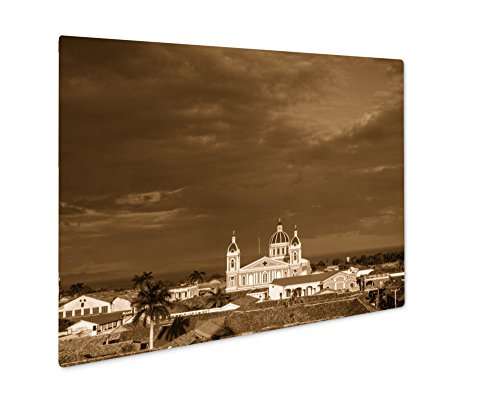 Ashley Giclee Cathedral De Granada, Wall Art Photo Print On Metal Panel, Sepia, 24x30, Floating Frame, AG6206569