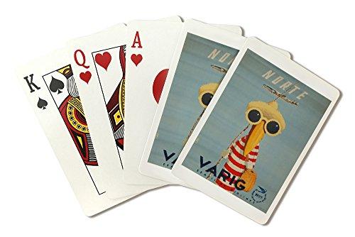 brazil-varig-norte-artist-petit-vintage-advertisement-playing-card-deck-52-card-poker-size-with-joke