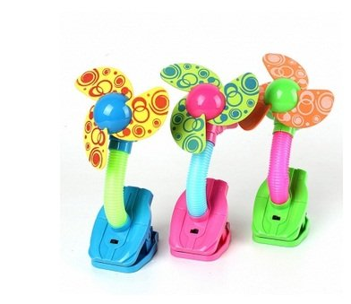 Mini Safety Clip-on Fan For Baby Prams Strollers Gyms 3 Colors Color:Pink