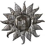 Wandbild Sonne aus Metall Ø 59cm