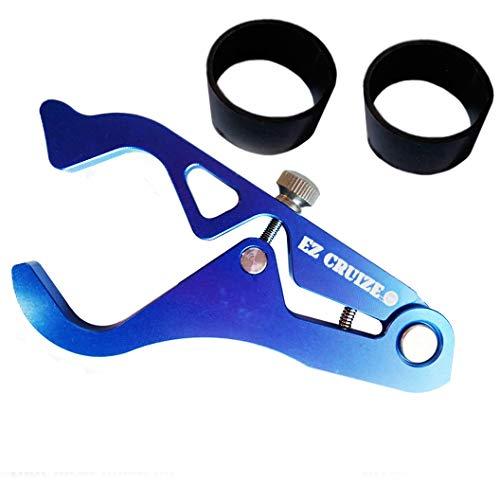 (EZ Cruize - Motorcycle Cruise Control - Universal Throttle Assist - Wrist/Hand Grip Lock Clamp - Harley, Honda, Suzuki, Yamaha, Kawasaki, Indian, Triumph, Ducati, Aprilia, KTM, BMW (Blue))