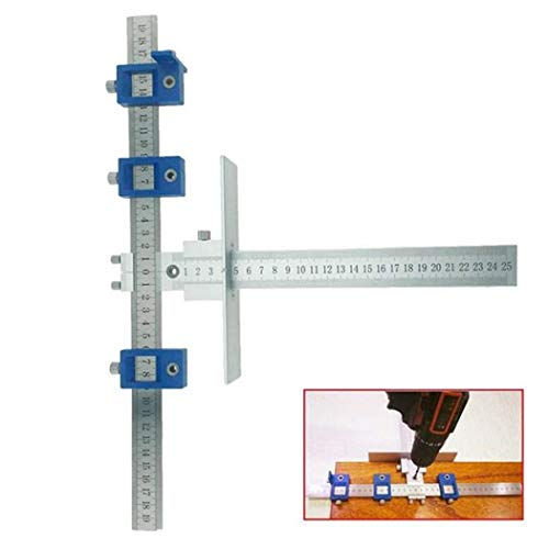 Aluminum Alloy Drill Guide Sleeve Cabinet Hardware Jig Drawer Pull Wood Drilling Dowelling Tools Set Cabinet Hardware Jig Position tool
