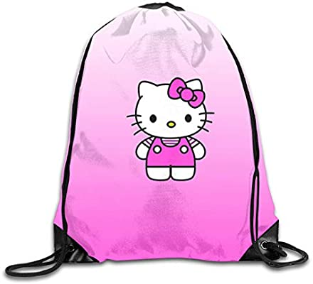 f56cb82fc Amazon.com: Meirdre Unisex Purple Hello Kitty Sports Drawstring Backpack  Gym Bag: Home & Kitchen