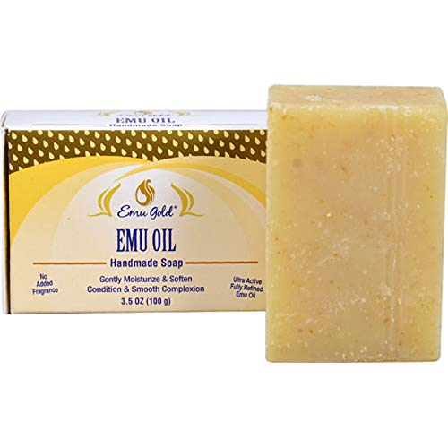 Emu Oil Soap Fragrance Free Emu Gold 3.5 oz Bar Soap