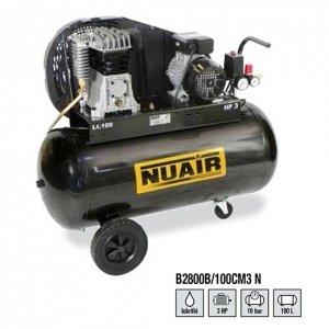 Compresor de aire à Pistón rãservoir de 100 litros Motor monophasã de 3 CV NuAir