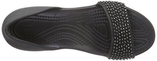 Crocs 204361, Bailarinas Mujer Negro (Black/Black)