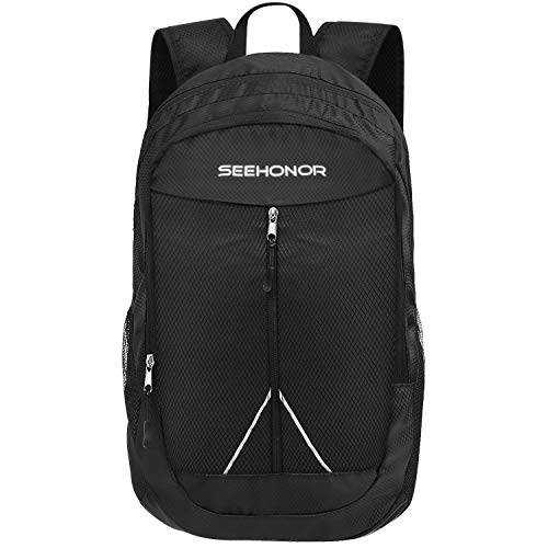 SEEHONOR Packable Lightweight Backpack Hiking Daypacks Foldable Durable Water Resistant Travel Backpack