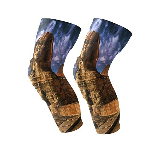 Knee Sleeve Sphinx Wallpapers Man Made HQ Pictures Full Leg Brace Compression Long Sleeves Pant Running, Jogging, Sports, Crossfit, Basketball, Joint Pain Relief, Men and Women 1 Pair