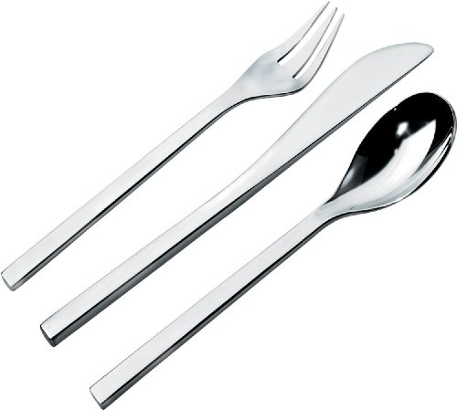 - Alessi Colombina 5-Piece Cutlery Set, 18/10 Stainless Steel Mirror Polish