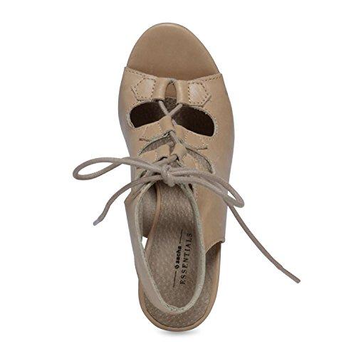 Sacha Nudefarbene Sandaletten mit Schnürung