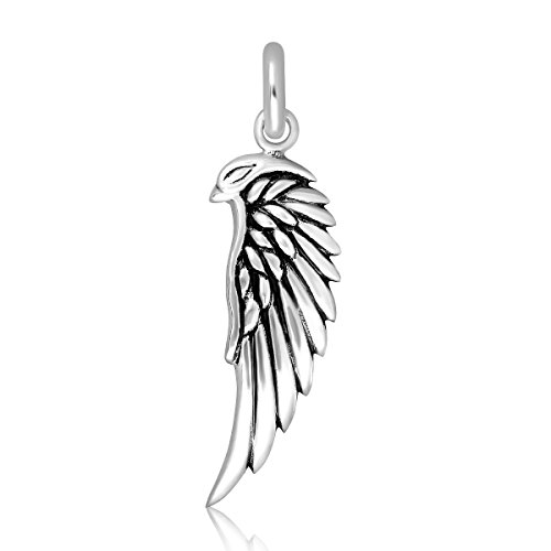 Eagle Charm Solid Sterling Silver (WithLoveSilver Solid 925 Sterling Silver Charm American Eagle Wing Pendant)