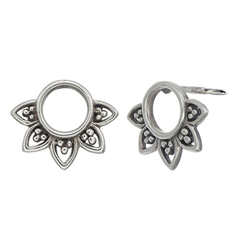 Boma Jewelry Sterling Silver Balinese Filigree Circle Stud Earrings