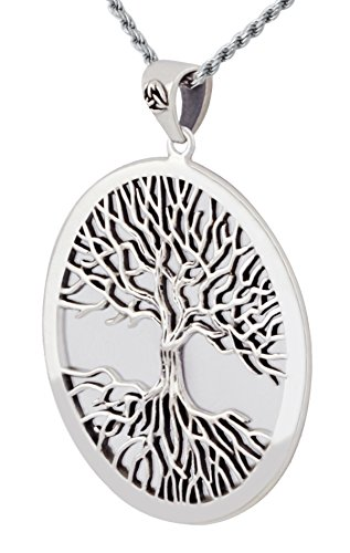 0.925 Sterling Silver Mickie Mueller Wiccan Tree of Life Pendant Necklace