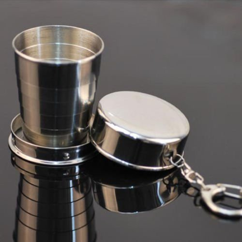 Hot 150ML Stainless Steel Travel Portable Cup Telescopic Collapsible Folding Cup