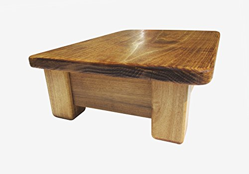 Foot Stool Poplar Wood New Style Frame Maple Stain 6