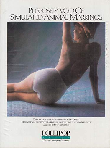 Purposely void of simulated anmal markings Lollipop Panties ad 1988