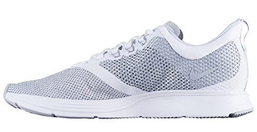 Femme Grey Basses wolf Sneakers Strike Zoom Wmns Blanc white Nike 100 n1qUXTS