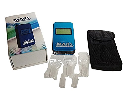 MARS Portable Alcohol Breath Tester- Professional Grade- Accurately Measures Breath Alcohol Content- Personal Breath Alcohol Tester Displays Accurate BAC Results in Seconds by PAS Systems International (Image #1)