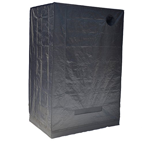 """41WEPuGJj%2BL - Grow Tent Indoor Not Include LED - Reflective Mylar Hydroponic/Hydro Waterproof Seedling Plant Growing Room for Grow Tents, Black 48""""x32""""x70"""""""