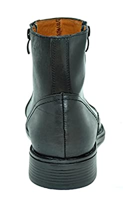 Baronett Men's Dress Ankle Dual Zip Genuine Leather Boots 7923-1