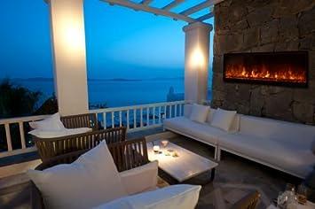 Amazon.com : Nova Indoor/ Outdoor Electric Fireplace W/ Black ...