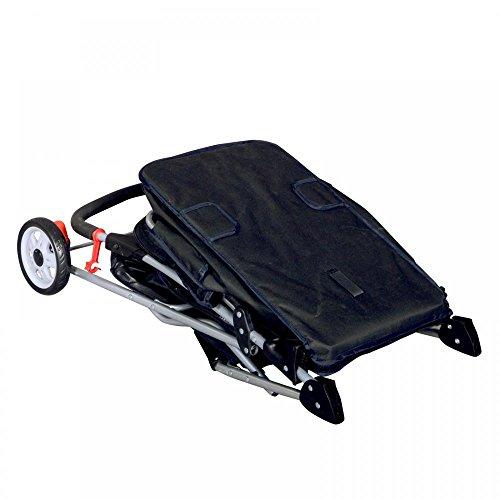 [해외]새 검은 애완 동물 유모차 고양이 개 케이지 4 바퀴 유모차 여행 접는 캐리어/New Black Pet Stroller Cat Dog Cage 4 Wheels Stroller Travel Folding Carrier
