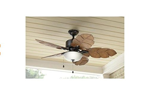 Home Decorators Palm Cove 52 In. Indoor/outdoor Natural Iron Ceiling Fan