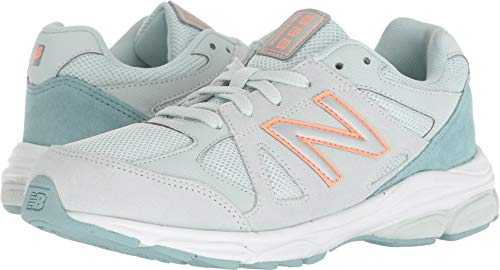 New Balance Girls' 888v1 Running Shoe, Ocean air/Dragonfly, 4 M US Big Kid