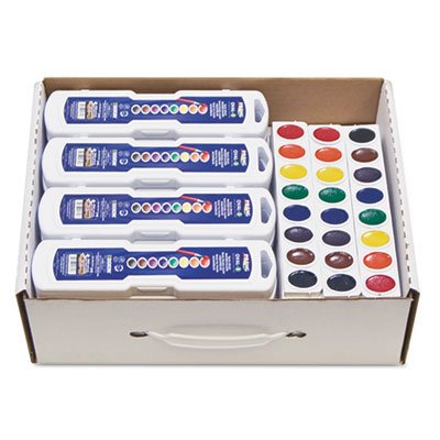 Professional Watercolors, 8 Assorted Colors,Masterpack, 36/Set, Sold as 36 Each by Prang