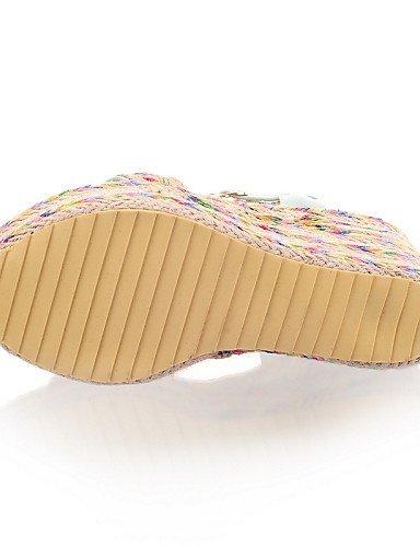 ShangYi Womens Shoes Heel Wedges / Heels / Peep Toe / Platform Sandals / Dress / Casual Black / Green / Purple/6688 Black