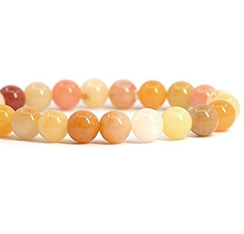 Top Quality Natural Multi-Color Yellow Jade Gemstone 6mm Round Loose Gems Stone Beads 15 Inch for Jewelry Craft Making GF21-6